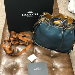 Beautiful Blue Coach Rogue Bag